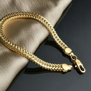 Other - 18k gold plated bracelet cuban link jewelry